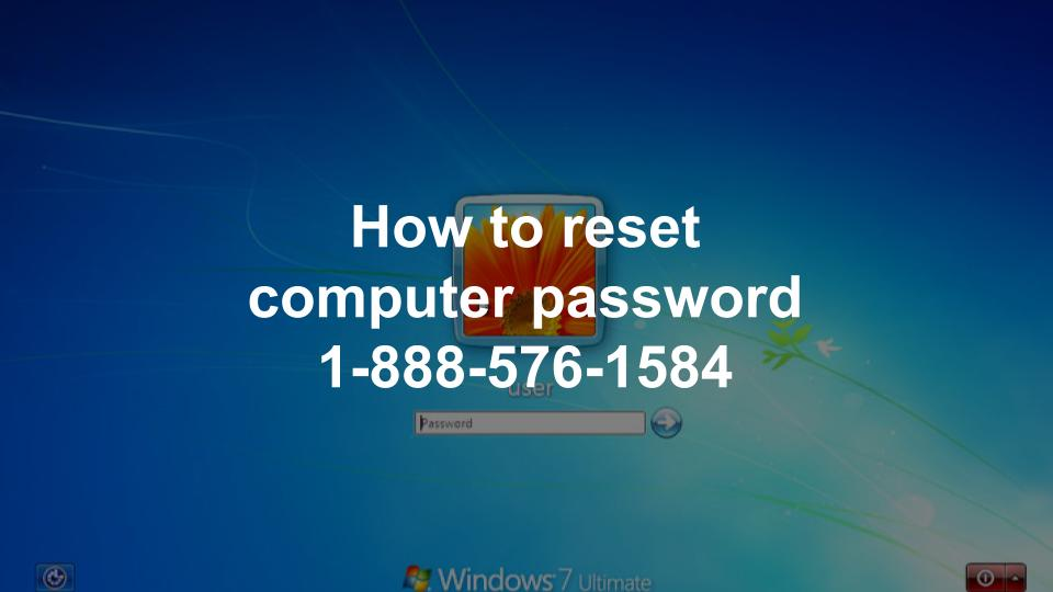 how to reset computer password windows